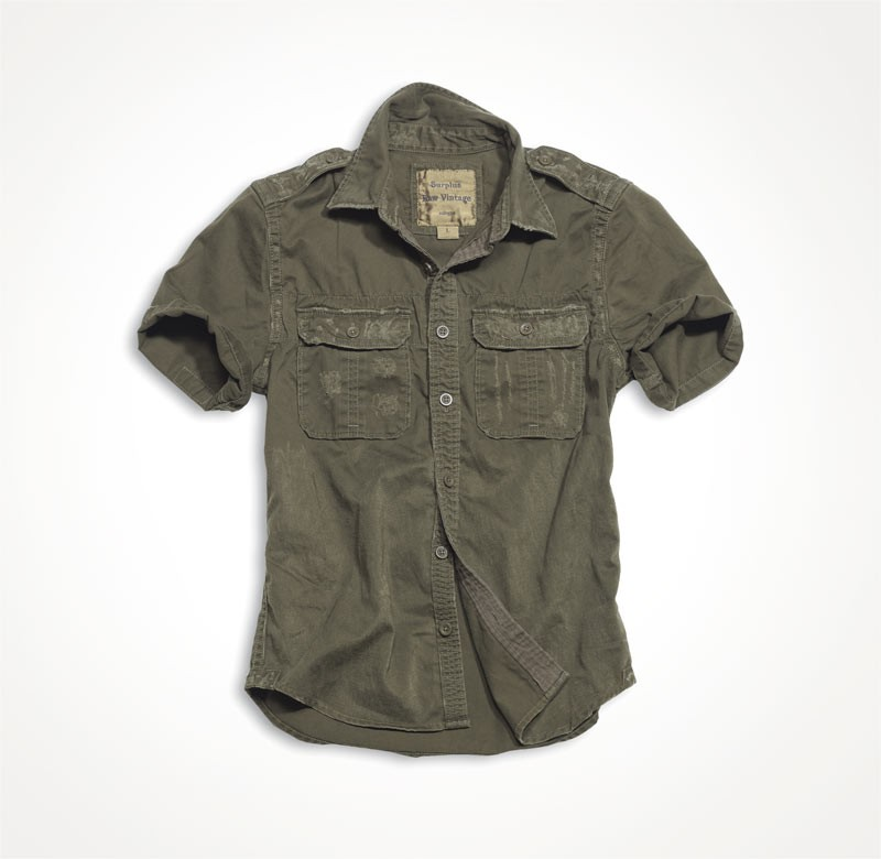 1/2 RAW VINTAGE SHIRT Brown