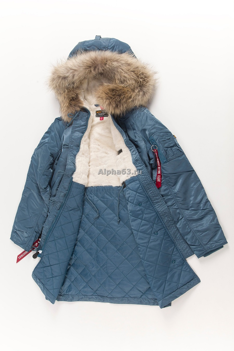 Женская куртка Elyse air force blue\ Nat.Fur