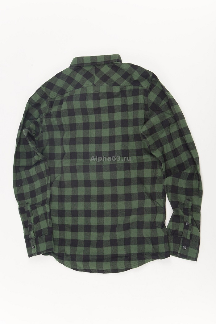 Рубашка Harley shirt /green chek