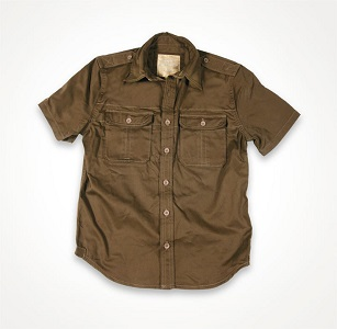 Рубашка 1/2 SURPLUS PLAIN SUMMER SHIRT Brown