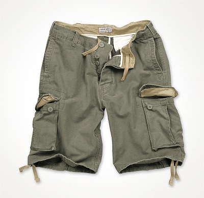 VINTAGE SHORTS WASHED Olive