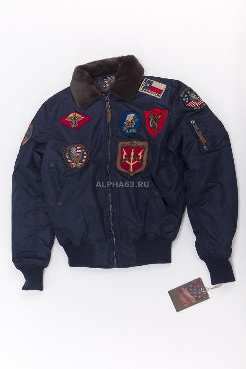 Куртка Flight Jacket B-15 With Patсhes/Navy