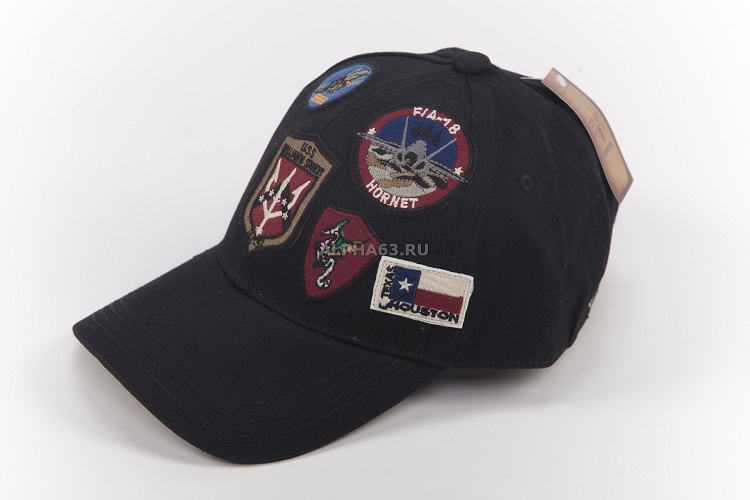 Кепка Top Gun Cap With Patches black
