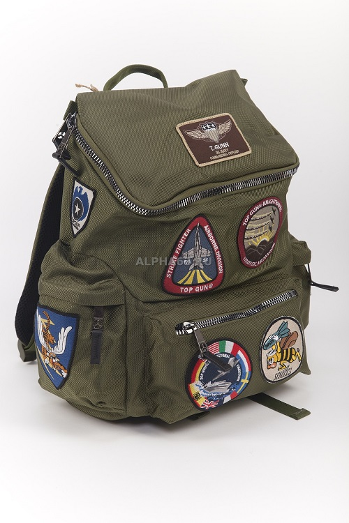 Рюкзак Top Gun With Patches olive