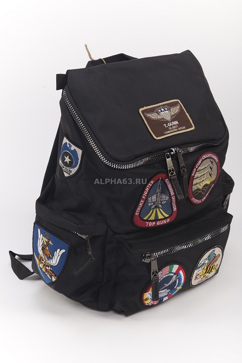 Рюкзак Top Gun With Patches black