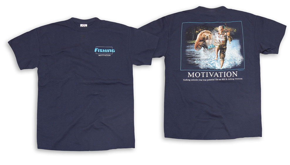 "Футболка ""Fish Motivation"" Navy Buck Wear"
