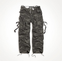 VINTAGE FATIGUES TROUSERS Black Camo