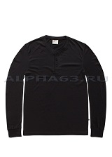 Лонгслив SHORELINE LONG SLEEVE HENLEY black