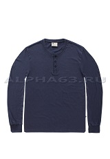 Лонгслив SHORELINE LONG SLEEVE HENLEY midnight