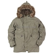 Куртка-парка N-3B Cotton Light Olive
