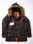 Куртка Slim Fit N-3B Parka Deep Brown\Orange