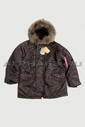 Куртка N-3B Parka Deep Brown Nat.fur