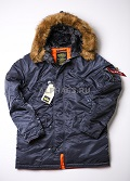 Куртка Slim Fit N-3B Parka Steel Blue\Orange