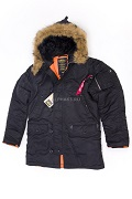Куртка Slim Fit N-3B Parka Black\Orange