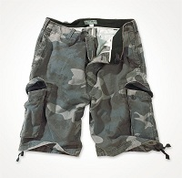 VINTAGE SHORTS WASHED Nightcamo