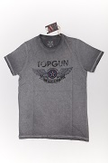 Футболка Top Gun Wings Logo grey