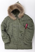 Куртка N-3B Parka Sage Green\Nat.fur