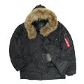 Куртка N-3B Parka Black Nat.fur