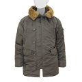 Куртка Slim Fit N-3B Parka Replica Gray\Orange