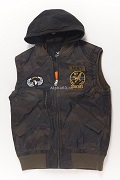 Жилет утепленный Flight Vest Hooded & Patches Camo