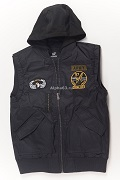 Жилет утепленный Flight Vest Hooded & Patches Navy