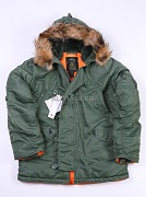 Куртка N-3B Regular Nord Storm Sage Green Nat.fur