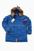 Куртка Slim Fit N-3B Parka Pacific Blue\Orange