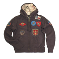 Толстовка ''Vintage Aviation Fur Top Gun Zip-Up Military Patches''