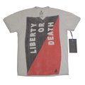 "Футболка vintage ""Liberty or Death""  Top Gun Gray"