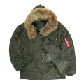 Куртка N-3B Parka Replica Gray Nat.fur