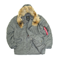 Куртка N-3B Parka Gun Metal Nat.Fur