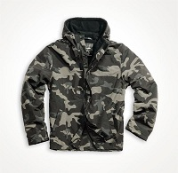 Ветровка ZIPPER WINDBREAKER Black Camo